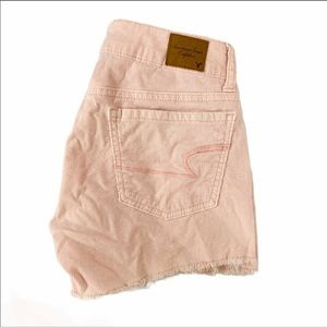 American Eagle fine corduroy shorts light pink